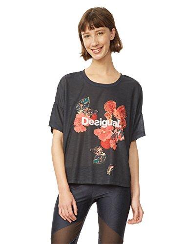 Desigual Damen Scarlet Blo Kurzarm T-Shirt M Peacoat