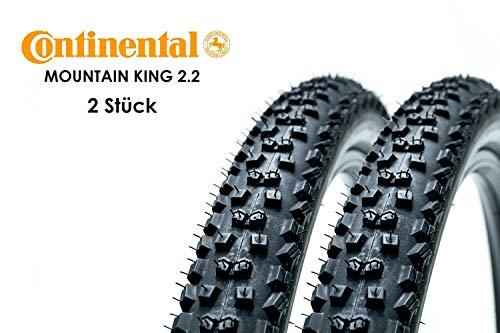 2 Stück 29x2.2 Zoll Continental Mountain King 55-622 Falt Reifen Fahrrad Mantel Decke schwarz