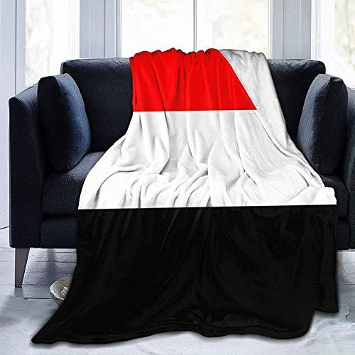 DUTRIX Manta de microfibra supersuave con la bandera de Yemen, mantas de aire acondicionado, camas de microfibra, mantas de sofá, 152 x 127 cm