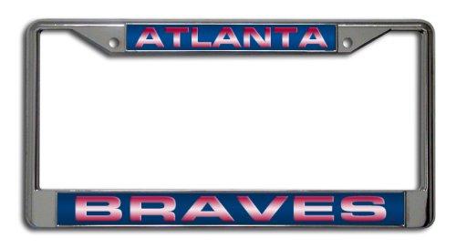 MLB Atlanta Braves Laser-Cut Chrome Auto License Plate Frame