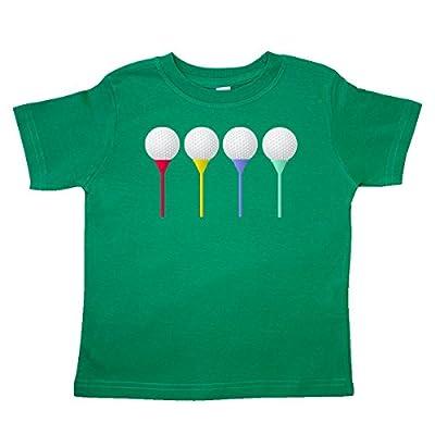 inktastic Rainbow Golf Tees Toddler T-Shirt 4T Kelly Green 3277