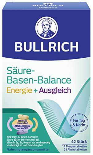 Bullrich Säure-Basen-Balance Energie + Ausgleich | unterstützt das allgemeine Wohlbefinden | 2-Phasen-Konzept (42 Tabletten)