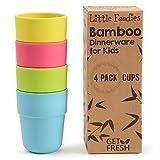 GET FRESH Bicchieri per Bambini in Bambù - 4/pz Set da cucina in Bambù - Stoviglie Tazze...