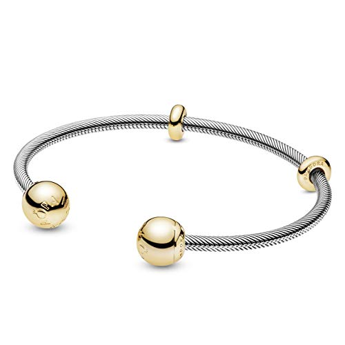 Pandora Damen-Charm-Armbänder Silber_vergoldet 568733C00-1 , 16cm, Mehrfarbig