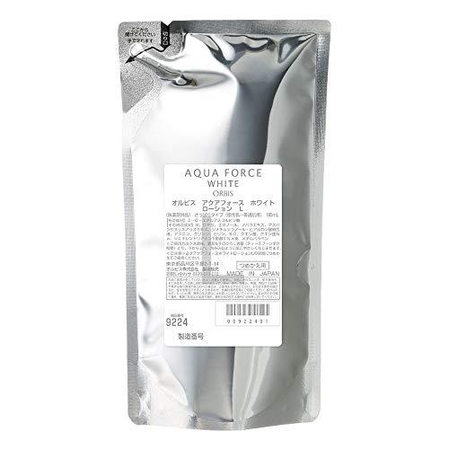 Orbis Aqua Force White Series Skin Lotion Refill 180ml - Light (Green Tea Set)