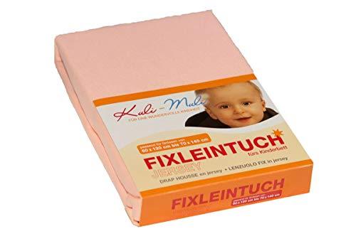 Kuli-Muli 7309 Fixleintuch/Spannbetttuch Ftee 70/140 lachs, rosa