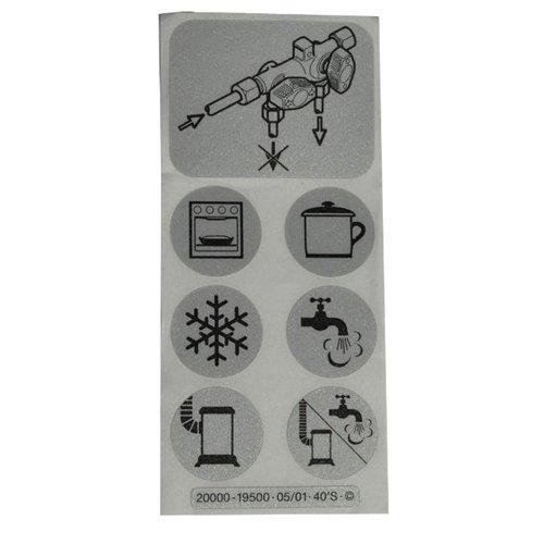 GOK Symbole Aufkleber-Satz für Verteilerblock