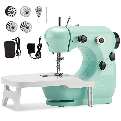 Beginner Sewing Machine with Extension TableMidvalley Handheld Sewing Machine for KidsMini Sewing Machine with Dual Speedand Double ThreadElectric Hand Sewing Machine for Crafts Household