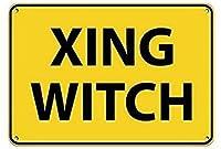 魔女交通標識メタルサイン