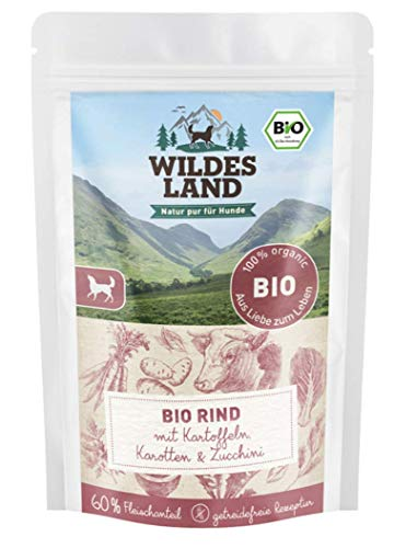 Wildes Land Hundefutter Nassfutter Bio Rind (10 x 125 g)