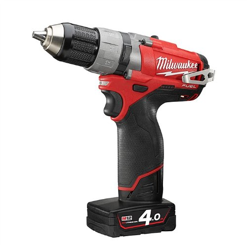 Milwaukee M12CDD-402C M12 Fuel Compact Drill Driver with 2 x 4.0Ah Li-Ion Batteries/ Charger