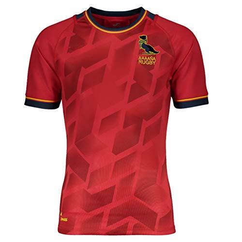 MRRTIME Jersey de Rugby Jersey, España Home Jersey para la Temporada 2021, fanáticos de poliéster Jersey de Rugby para Hombres, Manga Corta para niños y niñas Camiseta, Tama S