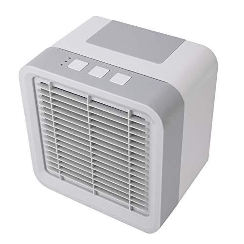Watopi 3 en 1 Mini enfriador de aire portátil, espacio personal, purificador de aire acondicionado, humidificador de aire, difusor de aroma USB 3 velocidades de viento, para escritorio, oficina, caravana