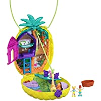 Polly Pocket Polly & Lila Tropicool Pineapple Wearable Purse Compact with 8 Fun Features
