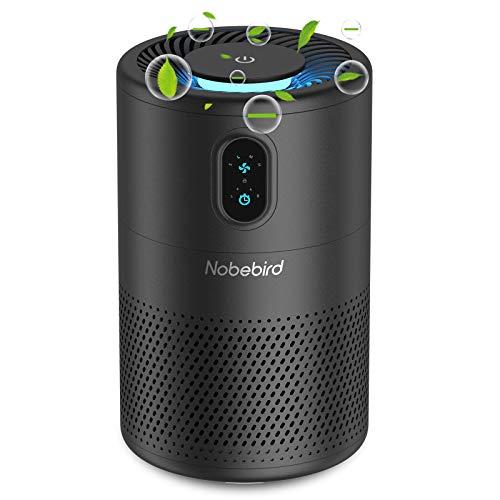 Nobebird H13 Purificador de aire True HEPA, purificador de aire de iones negativos para el hogar con temporizador, luz nocturna y modo de suspensión, elimina alérgenos, polvo, humo y caspa de mascotas