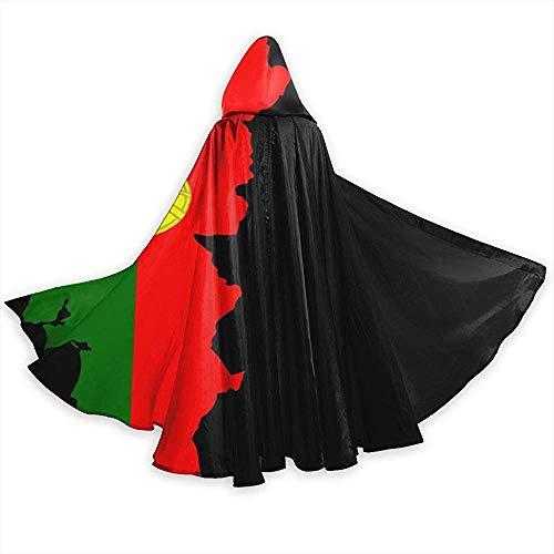 KDU Fashion Wizard cloak kaart Portugal vlag Portugees mantel met capuchon Mago voor meisjes jongens 40 x 150 cm
