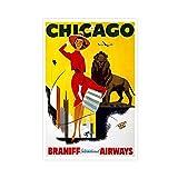 Chicago Die Schöne und das Biest Vintage Reise Leinwand