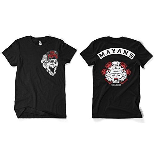 Officiellement Marchandises Sous Licence Los Mayans T-Shirt (Noir), XX-Large