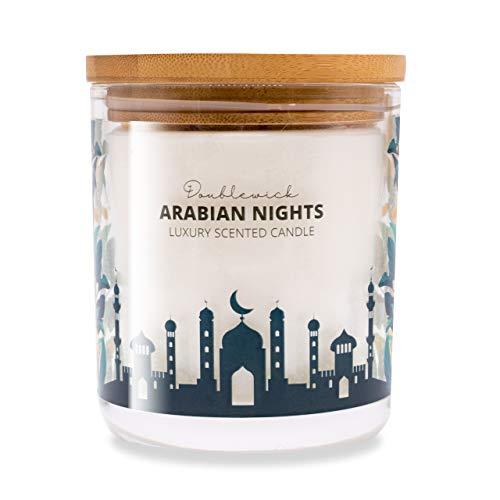 Vela aromática Double Wick Arabian Nights Strong Clean, hasta 60 Horas de combustión