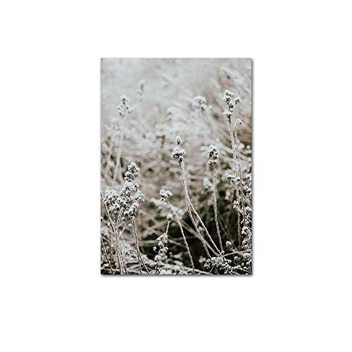 U/N Natur Winter Landschaft Leinwand Poster Bergwald Wanddruck Botanische Kunst Bild Nordic Living Room Decor-6