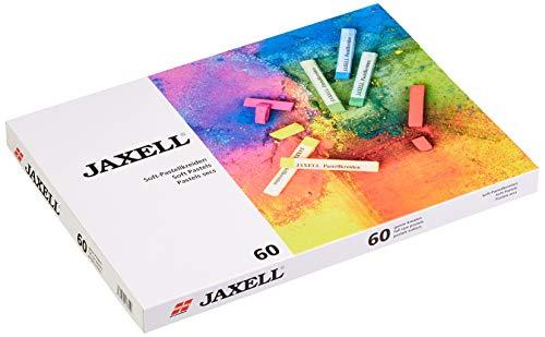 Honsell 47654 - Jaxell Pastellkreide, eckige Form, 60er Set, für flächiges und präzises Arbeiten, satte, lichtechte Farben, ideal für Künstler, Hobbymaler, Kinder, Schule, Kunstunterricht