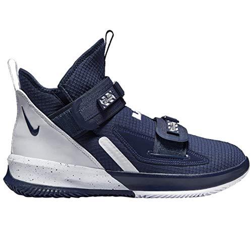 Nike Herren Lebron Soldier XIII SFG Basketballschuhe, Blau (Midnight Navy/White-White), 45.5 EU