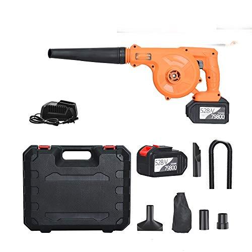 K99 Industrie-Grade Cordless Blower, Elektro-Laubsauger = 258TV Lithium-Batterie 2-In-1-Auto-Staub-Kollektor, gebraucht Trümmer wegzublasen im Laub Garten,Two Batteries