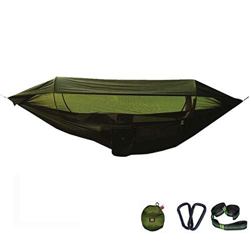 Hamac de Camping avec moustiquaire et auvent Parachute d'extérieur Hamac Ultra léger pour la randonnée Randonnée pédestre Aventure sur la Plage