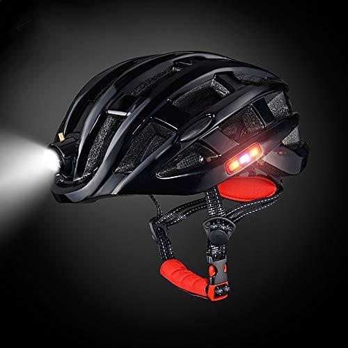 YAJAN-helmet Berg Fahrradhelm,CE-Zertifizierung mit Sicherheitslicht Einstellbare Mountainbike Zyklus Helme für Damen und Herren Einstellbare 49-59 cm