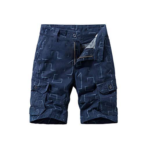 Binggong Cargo Shorts mit Druck Herren Casual SweatshortsTrainingsshorts Vielen Taschen Cargobermudas Sportswear