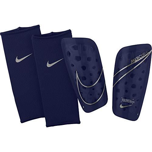 Nike Unisex– Erwachsene Mercurial Lite Fußball schiebeinschoner, Blue Void/Metallic Silver, XS