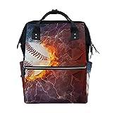 Mochila escolar de béisbol, gran capacidad, para mujer, hombre, adulto, adolescente, niños