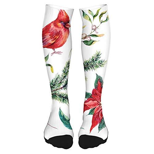 Calcetines altos de algodón sobre la rodilla, calcetines de jirafa para fumar disfrazados de zoológico, estilo hipster, dibujo retro, calcetines largos hasta la rodilla para hombre y mujer