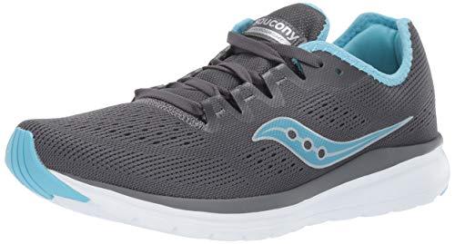Saucony Women's Versafoam Flare Running Shoe, Charcoal/Light Blue, 8.5