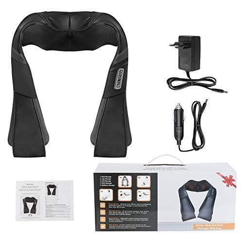 41iOqzroWkL - Masajeador de Cuello Hombros Espalda Eléctrico con Función de Calor, Shiatsu Masajeador Cervical, Masaje de Rotación 3D, Velocidad Ajustable, Relajación para Cuello y Hombros en Casa, Oficina o Coche