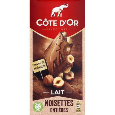 Cote d'Or, lait entier avec tablette de chocolat aux noix entières (1 x 180 g)