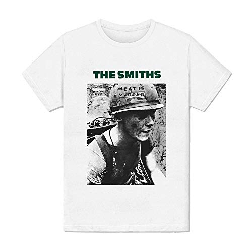 Mens t-Shirt White - The Smiths Meat is Murder-Soldier Album Music London
