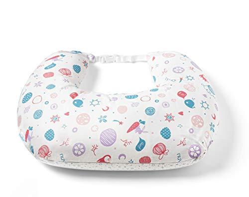 Nuvita 5300 FeedFriend - Cojín de lactancia - Almohada Lactancia Multifunción para Bebé - Rellena de Microperlas - Antialérgica – Libre de BPA/Ftalatos -Marca Europea -Fabricado en Italia (Lady White)