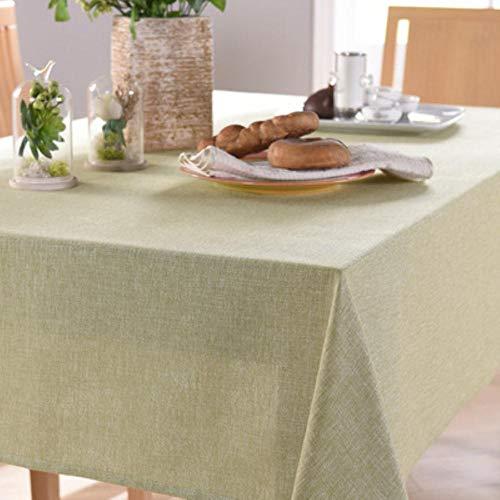 EDCV Tafelkleden kleine frisse en eenvoudige stof Effen kleur tafelkleed katoen en linnen salontafel decoratie rechthoekig, FRUIT-GROEN
