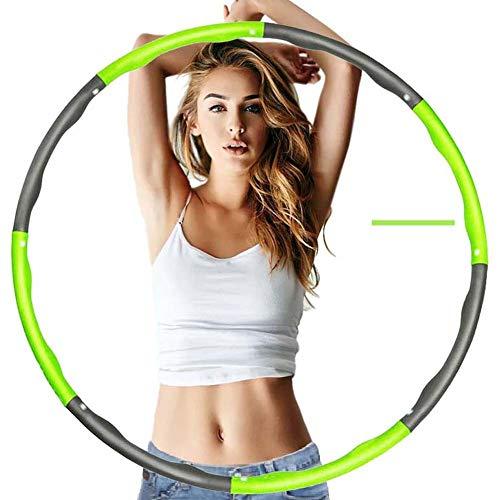 SZKP Fitnessreifen Hula Hoop Reifen Damen Herren Kinder Gymnastikreifen Mit Schaumstoff Für Abnehmen, Fitness, Gewichtverlust (Color : Green)