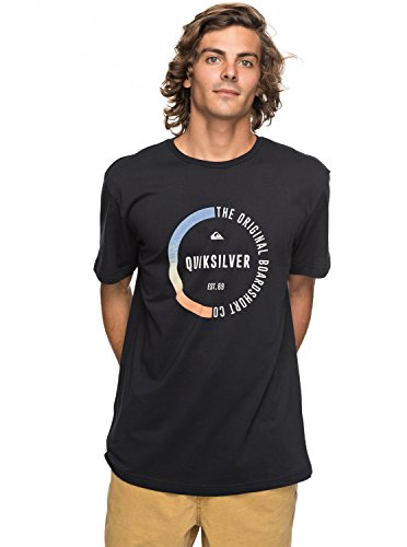 Quiksilver Ssclassirevenge Kvj0 T-Shirt Homme, Anthracite/Solid, FR : S (Taille Fabricant : S)