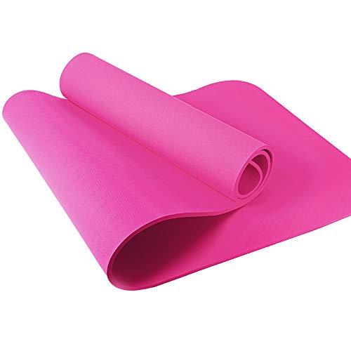 Yogamatte – Yoga Retreat • 6 mm, rosa • inkl. Tasche und Trageband • umweltfreundlich • hypoallergen & hautfreundlich • TPE Sportmatte für Yoga, Gymnastik, Pilates & Fitness • rutschfest • 183x61 cm