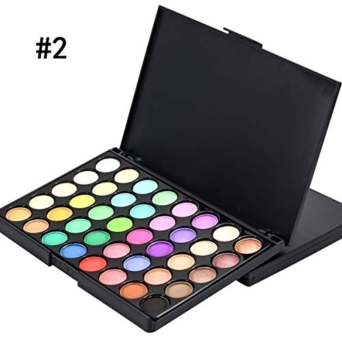 Ruiqas 40 Colores de Sombra de Ojos Mate Paleta de Maquillaje Conjunto Sombra de Ojos Crema Maquillaje cosmético (Color : 02)