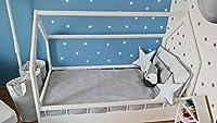 completo letto&casa+materasso ECO,stile scandinavo,bambino 160x80cm+sponde (colore del letto: bianco) #4