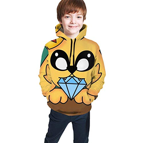Sudaderas con Capucha Kids Mike-Crack Boys Girls Hoodies Sweatshirt Cool 3D Print Pocket Pullover