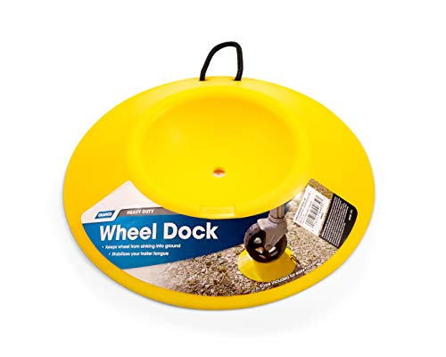 Camco Heavy Duty Wheel Dock with Rope Handle - Helps Prevent...