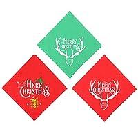 Balacoo 3ピースペットクリスマスバンダナよだれかけフェスティバルトナカイ犬三角スカーフ猫襟ネッカチーフ唾液タオルドレスアップ衣装コスプレ