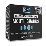 M3 Naturals Mouth Guard for Clenching Teeth at Night - Bite Guard, Dental Guard, Night Guard, Whitening Trays - Night Guards for Teeth Grinding - Mouthguard Grinding Teeth BPA Free 4 Guards 3 Sizes