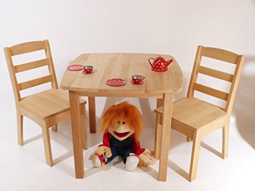 Kindermeubelset 8018 – tafel/stoelen – kleuterschool meubels massief hout – robuust