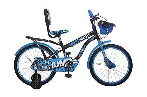 MAD MAXX BIKES Humber 20T Steel Single Speed Road Kids Cycle for 7 to 10 Years Kids (Mate Black and Sky Blue)